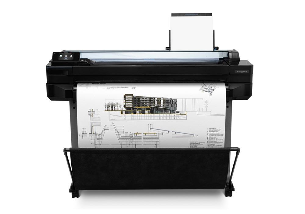 line printers –The HP DesignJet T520 printer series.