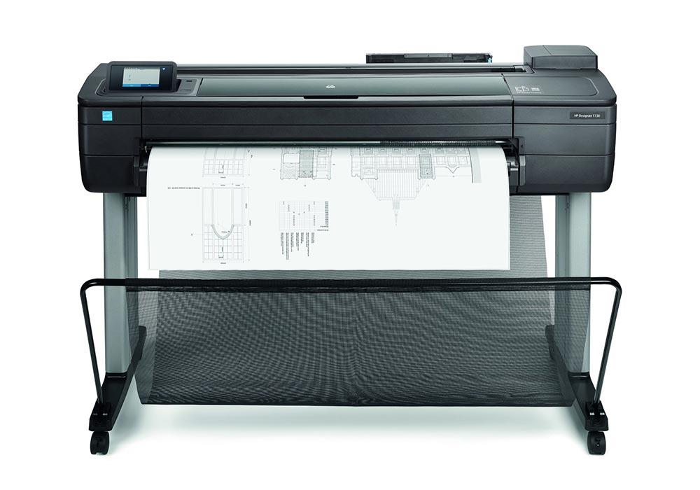 line printers – The HP DesignJet T730 printer.