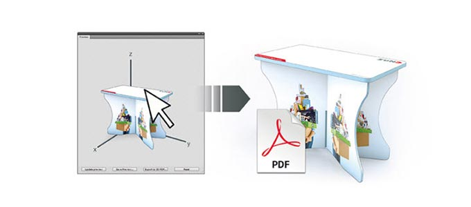 print software – Zünd Design Centre: streamline your packaging design. View and present simulations of folded designs in virtual 3D.