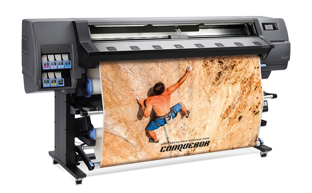 latex printing – HP Latex low-volume printers: the HP Latex 335 printer.
