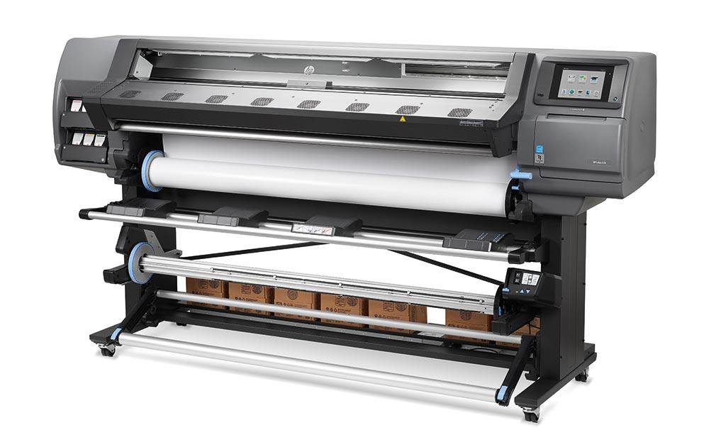 latex printing – HP Latex low-volume printers: the HP Latex 370 printer.