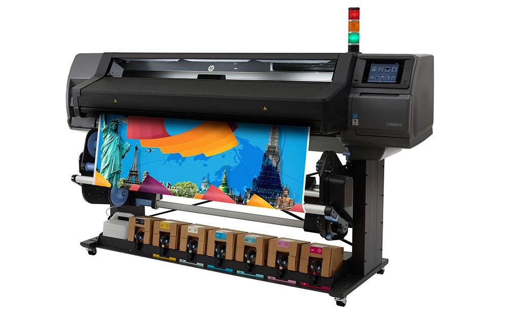 latex printing – HP Latex low-volume printers: the HP Latex 570 printer.