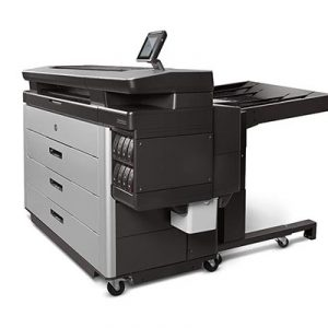 HP PageWide XL high-capacity stacker.