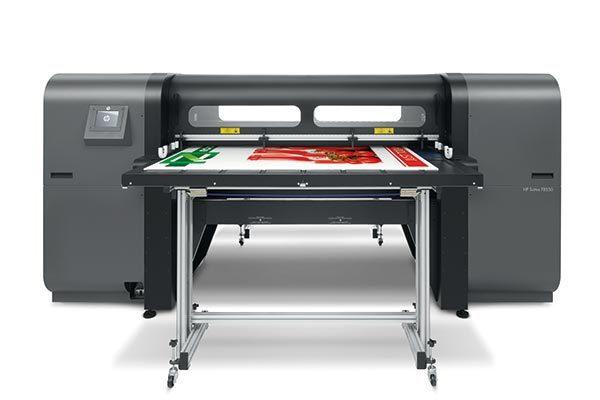HP Scitex FB550 UV flatbed printer.