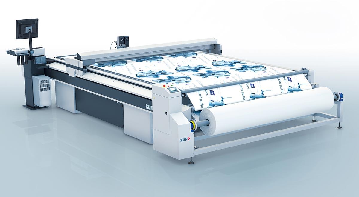 textile cutting equipment – The Zünd G3 digital cutter: center winder.