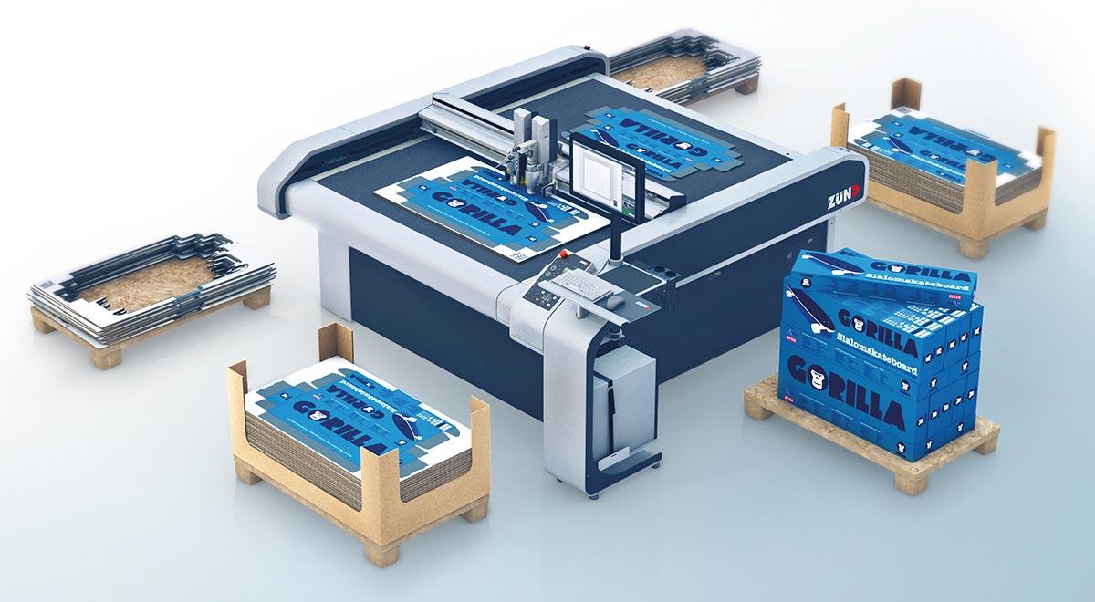 textile cutting equipment –Tandem material handling: the Zünd G3 digital cutter.