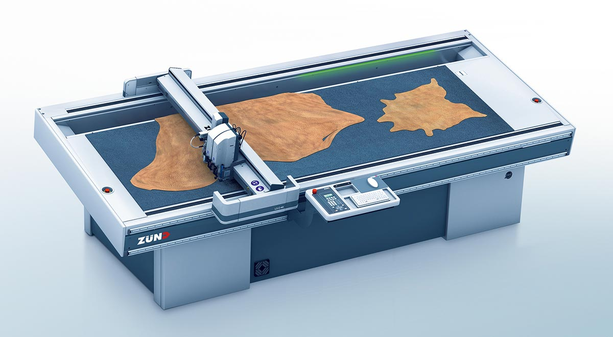 leather cutting – The Zünd L3 digital cutter: leather cutting – intelligent and efficient.