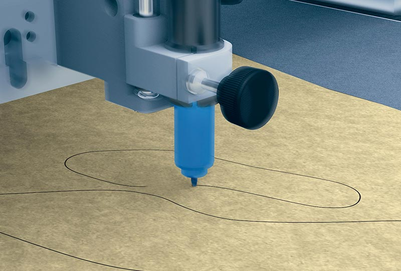 leather cutting – Marking for the Zünd L3 digital cutter.