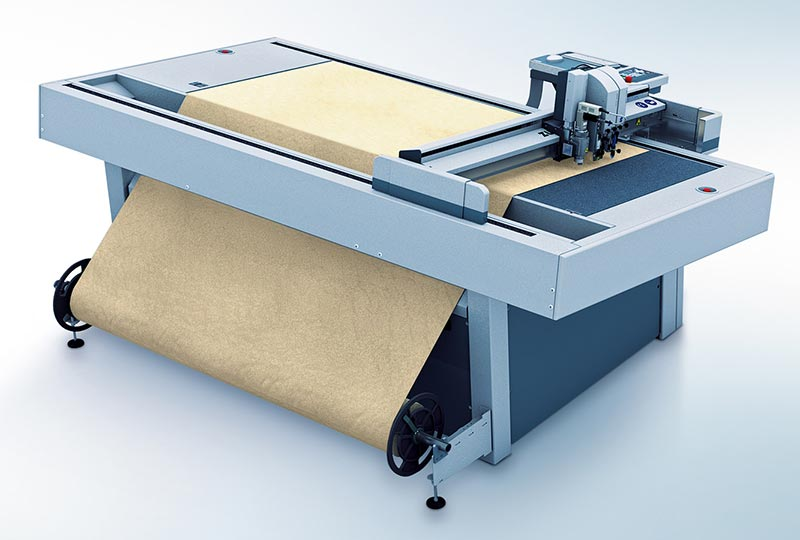 leather cutting – Processing of rolled materials with the Zünd L3 digital cutter.