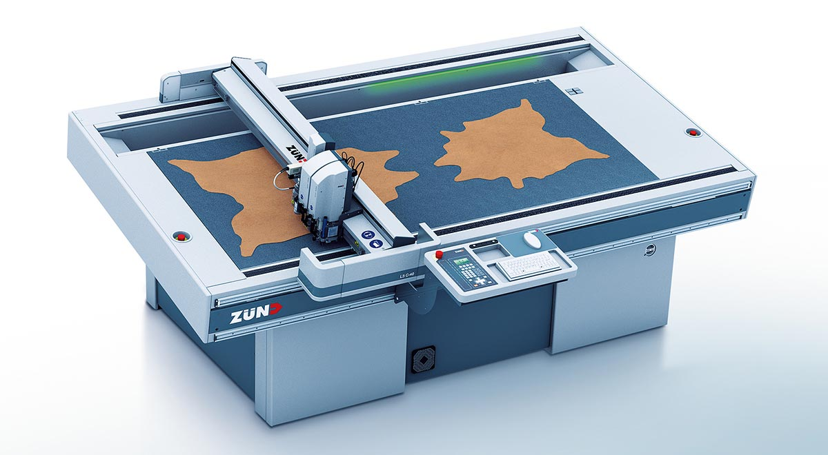 digital cutters – Zünd L3 digital cutter: designed for non-stop production with concurrent cutting/processing and loading/unloading.