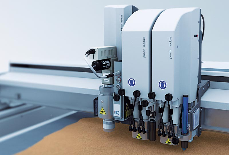 leather cutting – Flexible tool configuration of the Zünd L3 digital cutter.