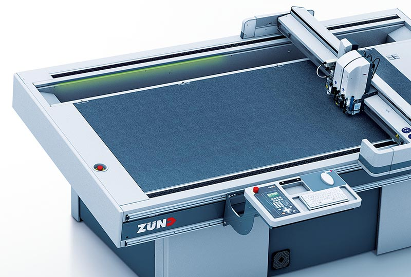 leather cutting – Workflow efficiency of the Zünd L3 digital cutter.
