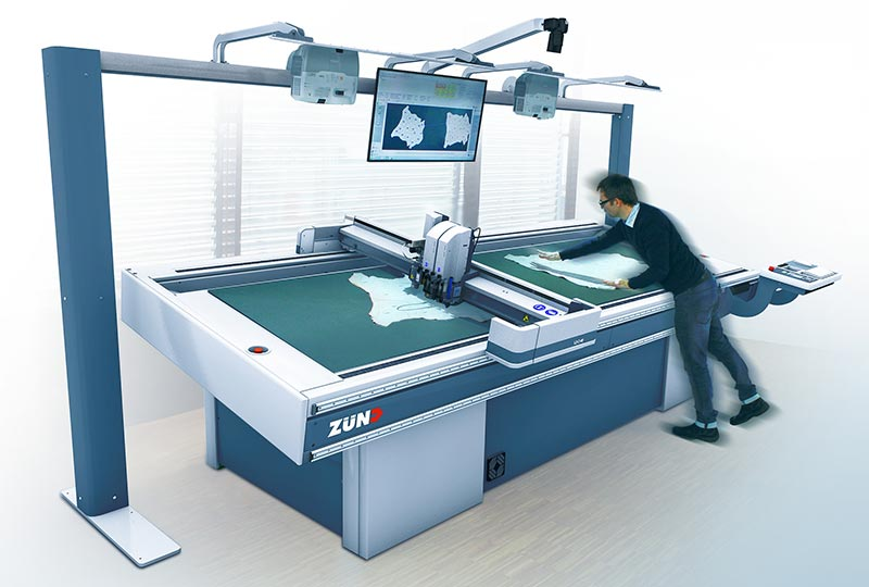 leather cutting: MindCUT Studio features for the Zünd L3 digital cutter: interactive nesting.