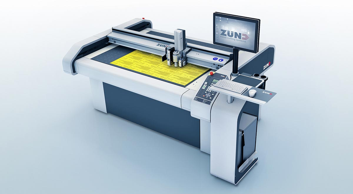 digital cutters – Zünd S3 digital cutter: highly flexible and permits variable production workflows.