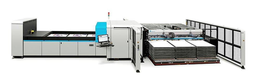 corrugated printing – HP Scitex 17000 corrugated press.