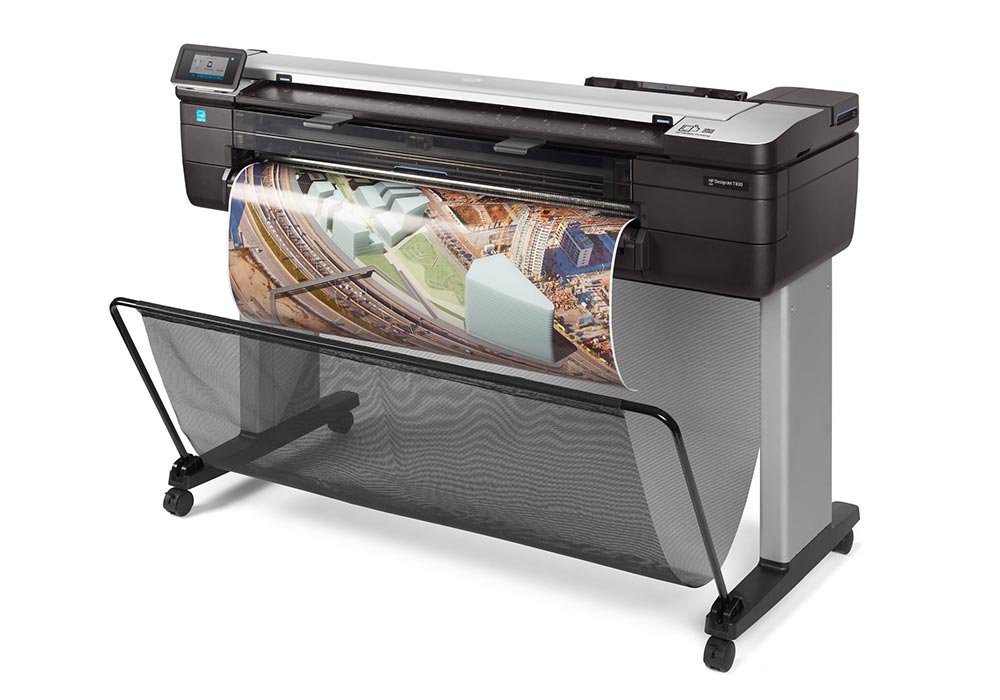 hp designjet – The HP DesignJet T830 multifunction printer.