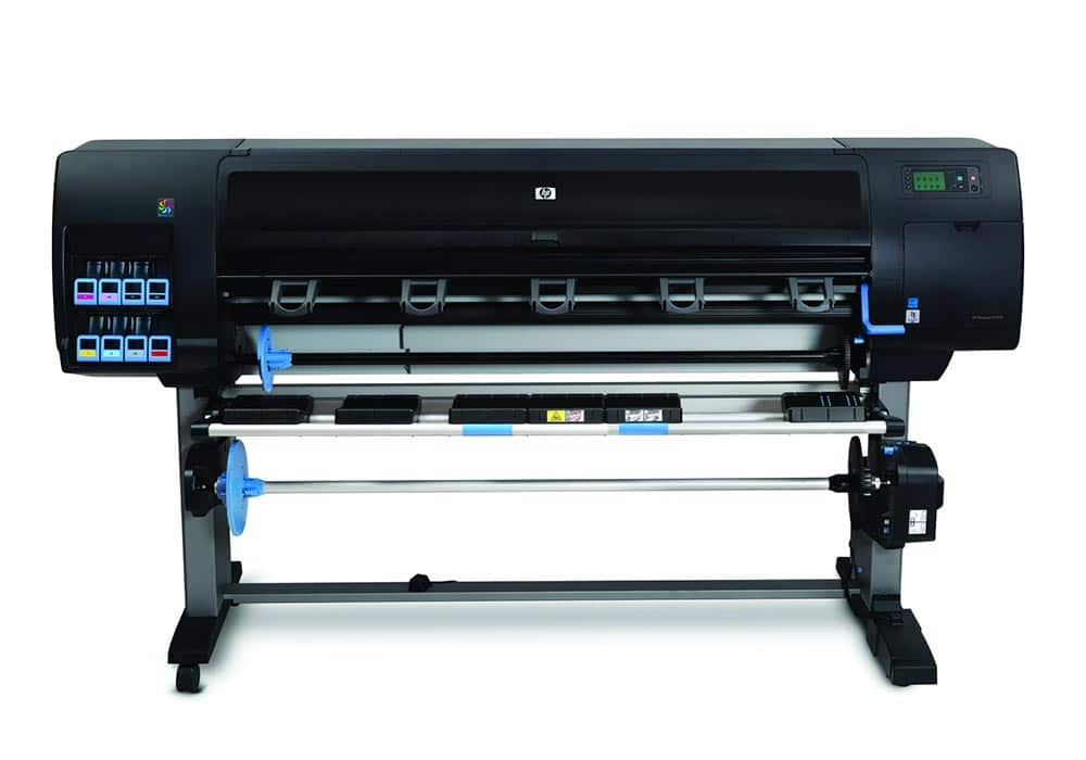 photo production printer – The HP DesignJet Z6200 photo production printer.