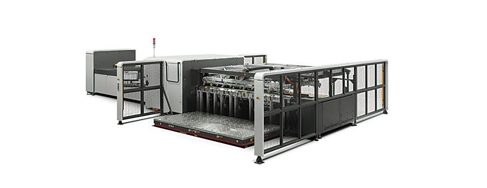 digital printing – HP Scitex 15500 corrugated press.