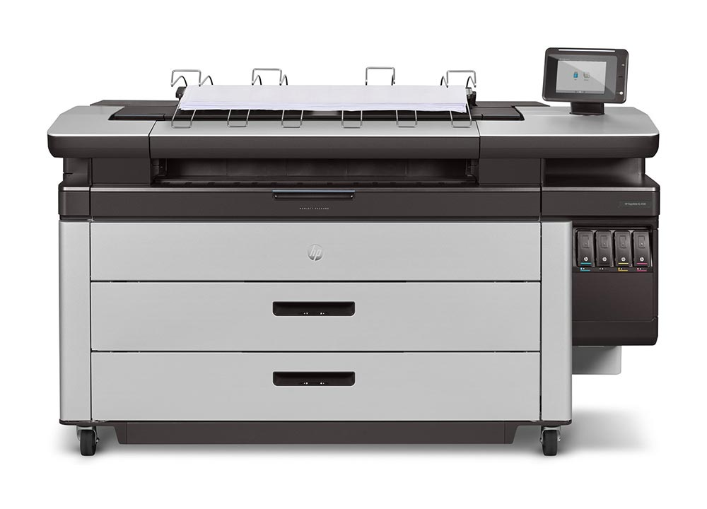 industrial printers – The HP PageWide XL 4000 printer series.