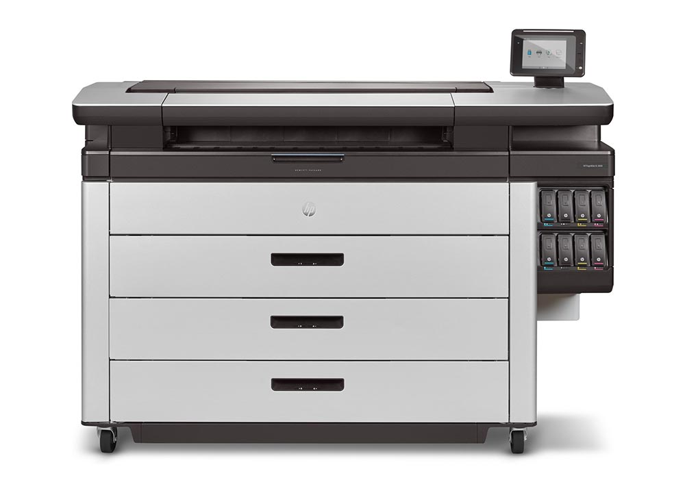 gis –The HP PageWide XL 8000 printer. The fastest large-format monochrome and colour plotter ever.