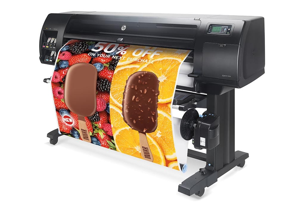 plotters – the HP DesignJet Z6610 production printer.