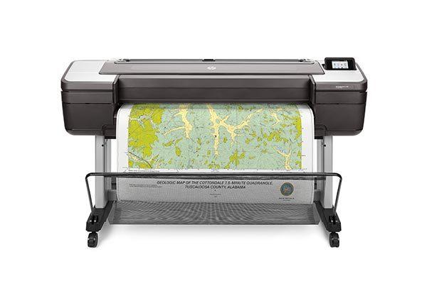 HP DesignJet T1700 printer series.
