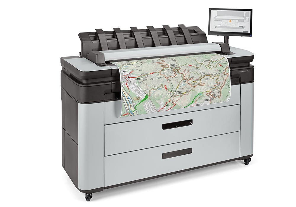 map printing – the HP DesignJet XL3600 MFP.