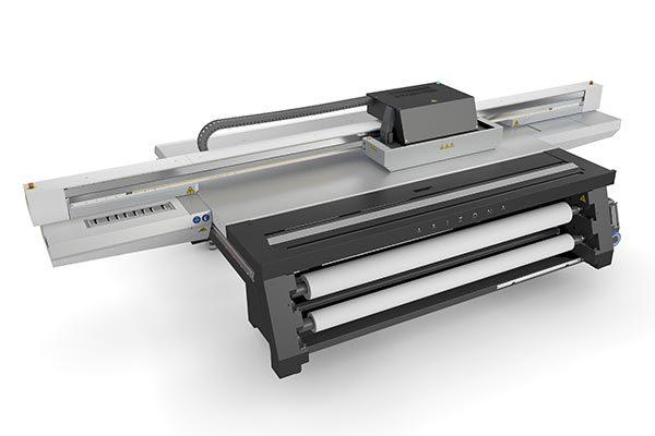 Océ Arizona 1380 GT Titanium UV flatbed printer.