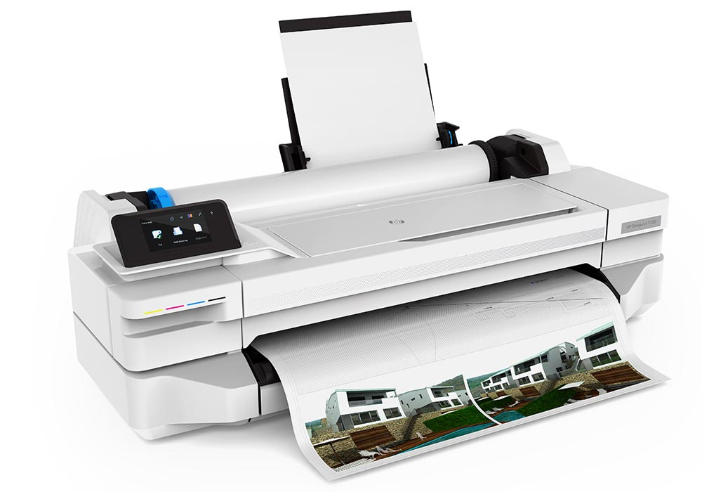 HP DesignJet T130 24-inch compact technical printer