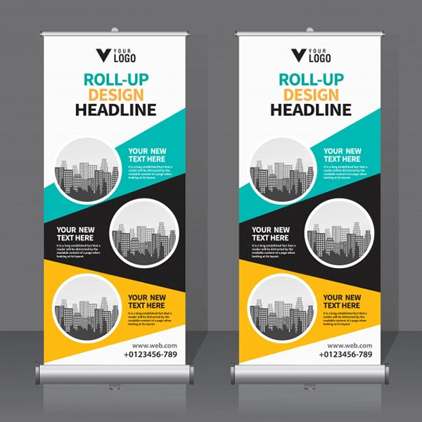 printable PVC –roll-up banners printed on PVC from the Midcomp House Brand.