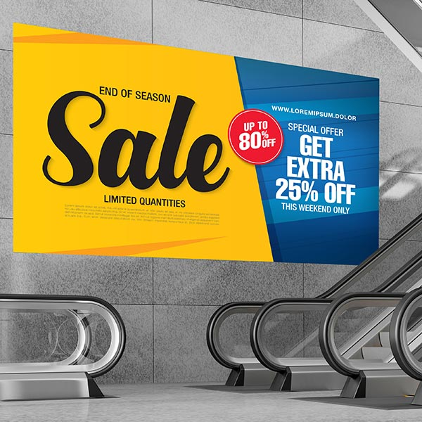 vinyls – Drytac matt, bubble-free vinyl applied to wall signage next to an escalator.