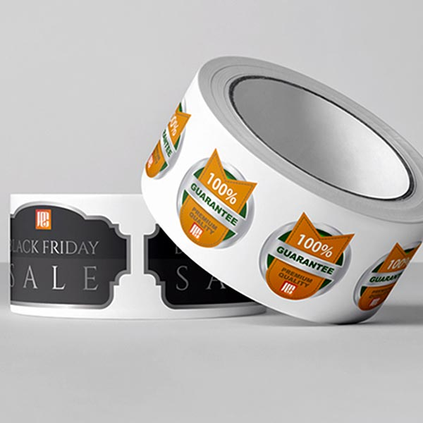 consumables for print – a roll of Midcomp House Brand label paper.