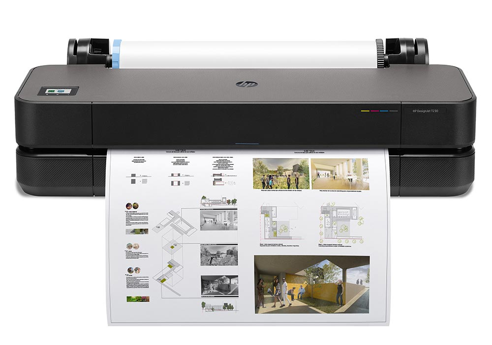 fine line printing –exceptional line accuracy, detail and bold colour for CAD printing and GIS applications with the HP DesignJet T230 24-inch printer.