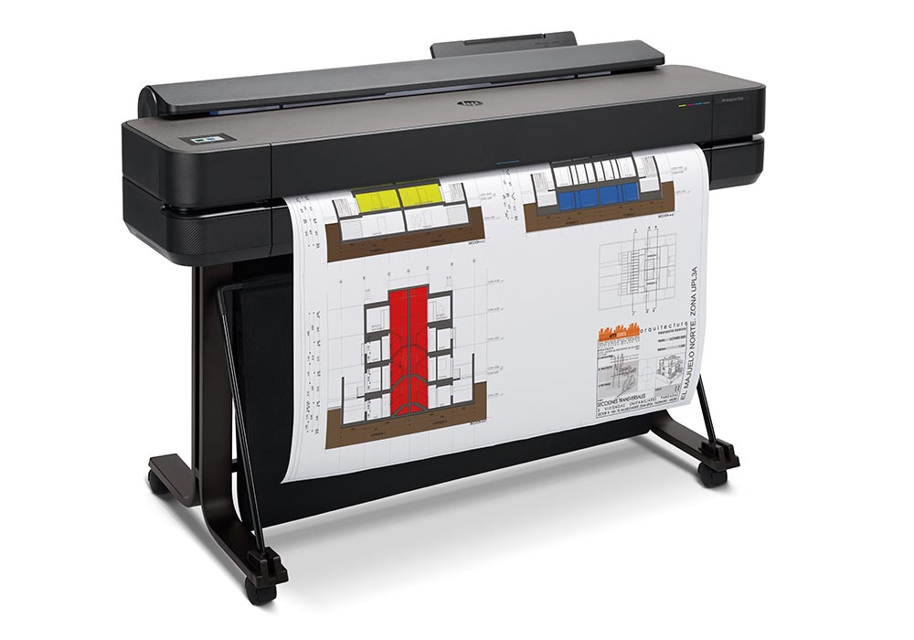 plotter - exceptional line accuracy and a vast colour gamut or CAD- and GIS printing with the HP DesignJet T650 36-inch printer.